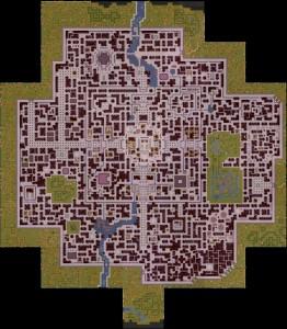 Un plan de Loreval tracé avec l'éditeur de Newerwinter Nights